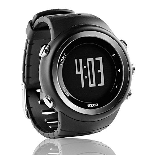 EZON スマートウォッチ メンズ デジタル スポーツ アウトドア ウォッチ 歩数計 カロリーカウンター付き IP67防水 腕時計 T023B01