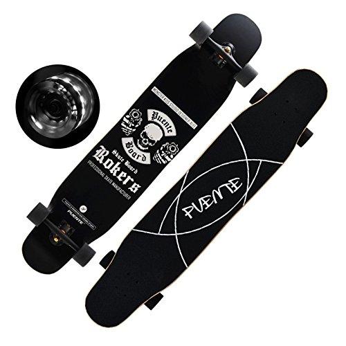 「FASTAM」46インチ高品質スケートボード/ テールキック/メープルデッキDaincing Freestyle Cruising Free ridenaなどに適用【ABEC-9ベアリング採用】 (WD-21)