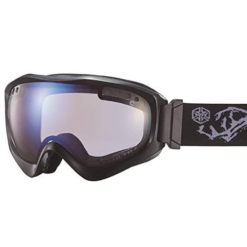 【国産ブランド】DICE(ダイス) スキー スノーボード ゴーグル ジャックポット 紫外線で色が変わる ULTRAレンズ ミラー 調光 プレミアムアンチフォグ JP84265BKW