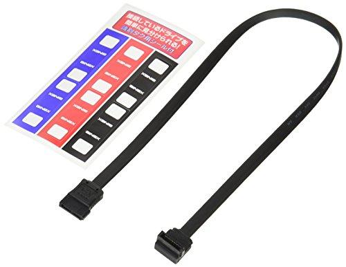 価格交渉OK送料無料 アイネックス シリアルATAケーブル 売り込み 片下L型コネクタ SAT-6035LBK 35cm