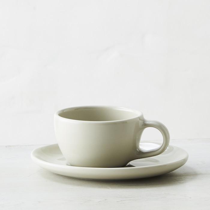 ブルーボトルコーヒー Blue Bottle Coffee カップ 小 売買 165ml グレー ソーサーセット 送料0円