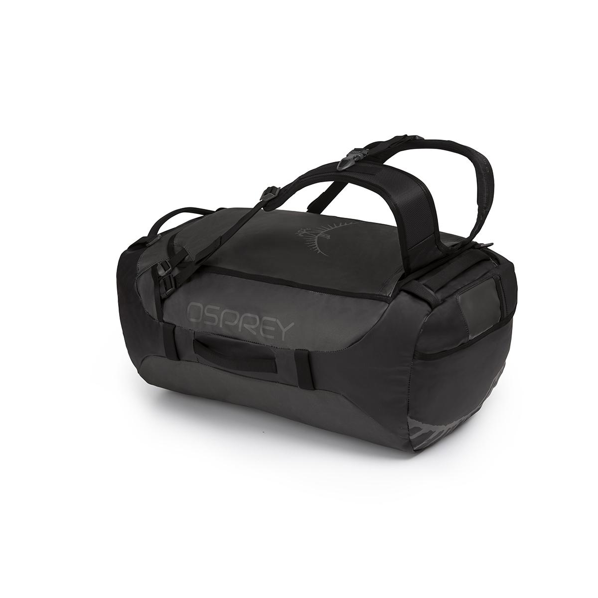 【ポイント10倍~9/29】オスプレー NEWトランスポーター65 ブラックOS55183 バックパックにもなるコーティングナイロン使用ダッフルバッグ