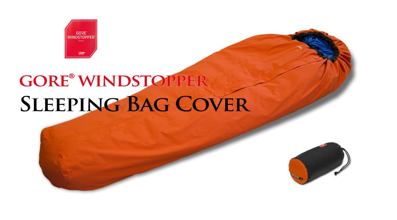 ヘリテイジ GORE WINDSTOPPER ゴアウインドストッパー シュラフカバー F付 Mサイズ オレンジ ブラック