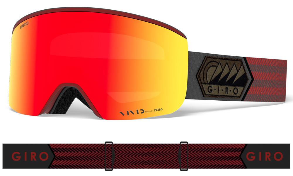 GIRO[ジロ] メンズ AXIS AF アクシス アジアンフィット スノーボードゴーグル Dark Red Sierra Vivid Ember 37 7095005