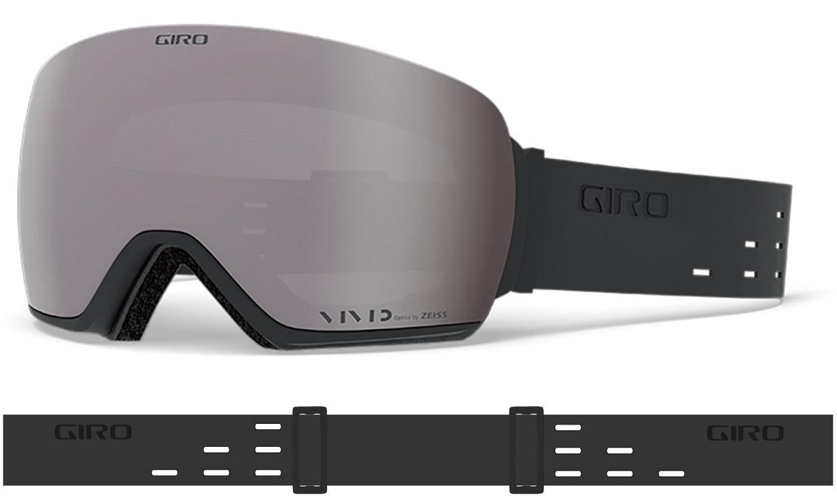 GIRO[ジロ] ARTICLE AF アーティクル アジアンフィット スノーボードゴーグル Silicone Black Vivid Onyx 14/Vivid Infrared58 (曇天用)1枚付き スキー スノーボード カールツァイス製 7094995