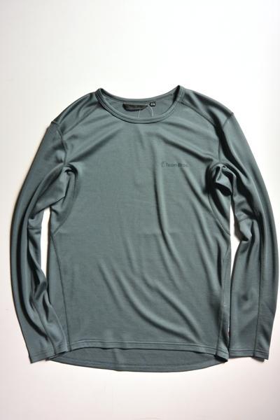 Teton Bros. Power Wool MW L/S Tee(Gray) ティートンブロス ミッドウエイト ロングスリーブ 【送料無料】【ベースレイヤー】【パワーウール】【ポーラテック】【抗菌防臭】