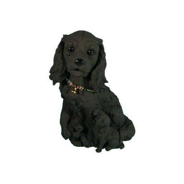 *代引き不可消臭-『備長炭』フィギュア「キャバリア」Cavalier King Charles Spaniel 犬 dog ドッグ いぬ