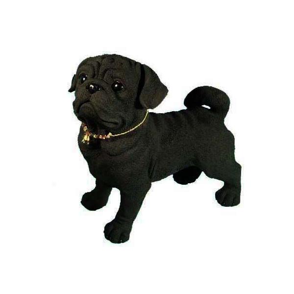 備長炭のカワイイ置物で消臭効果!  *代引き不可消臭-『備長炭』フィギュア「パグC」 pug (variety of dog) -犬 dog ドッグ いぬ