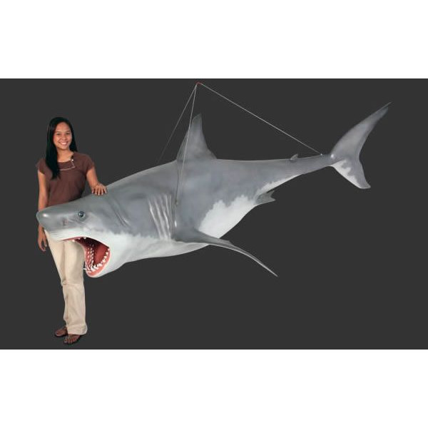 代引不可-全長3.3m!ジョーズ(サメ)巨大フィギュア・吊り下げタイプ(等身大フィギュア)送料別途見積