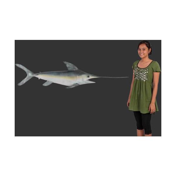 代引不可-全長146cm!メカジキ・フィギュア・壁掛けタイプ(等身大フィギュア)swordfish figure fish Xiphias gladius 店舗/店頭/看板/オブジェ/ディスプレイ/シンボル/置物/アート送料別途見積