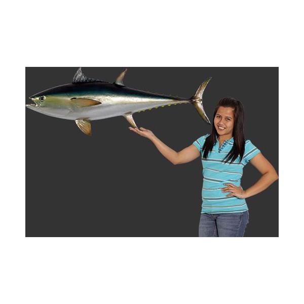 代引不可-全長114cm!ブルーフィン まぐろ マグロ 鮪 tuna figure blue fine fish 巨大フィギュア・壁掛けタイプ(等身大フィギュア) 店舗/店頭/看板/オブジェ/ディスプレイ/シンボル/置物/アート送料別途見積