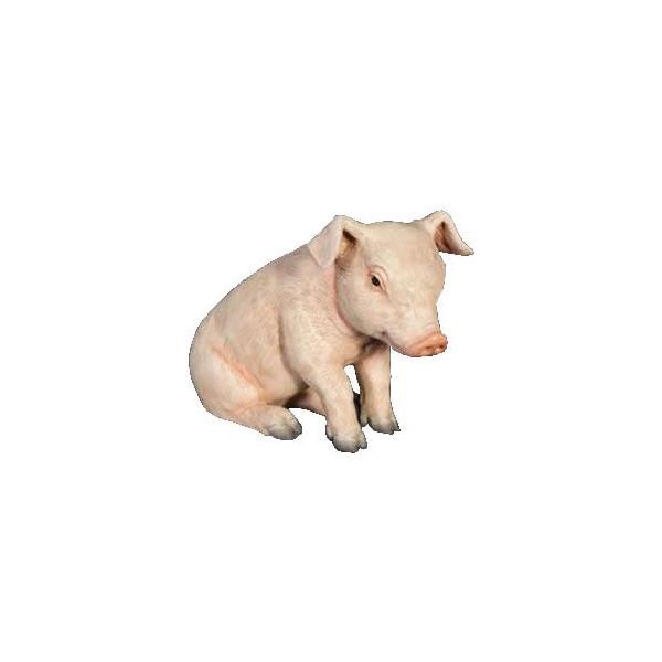 【すわる子豚(ブタ)ぶた】pig(等身大フィギュア) Christmas 店舗/店頭/看板/オブジェ/ディスプレイ/シンボル/置物/アート 代引不可-動物 アニマルビッグフィギュアシリーズ キャッシュレス 還元 ポイント 5% 店舗対象