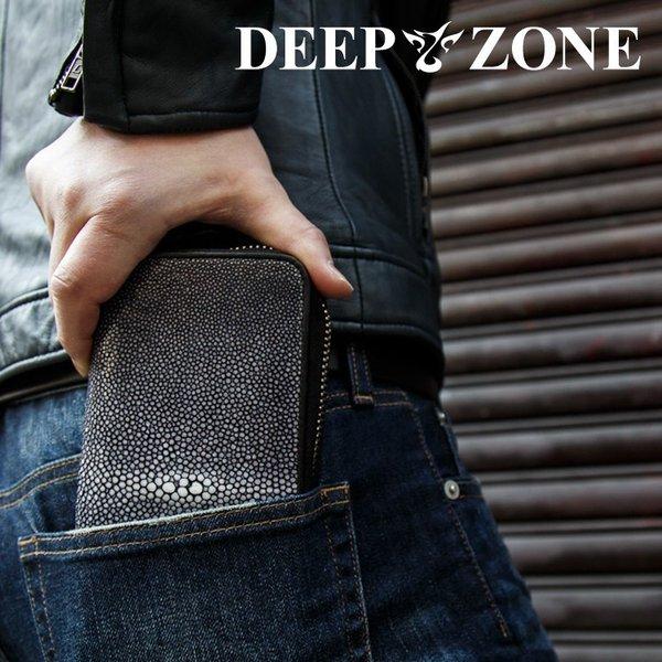 長財布 メンズ エイ革 ディープゾーン [ DeepZone ] エイ革 本革 ディープゾーン スティングレイ 泳ぐ宝石 男 デイープゾーン ブランドカジュアル 送料無料 プレゼント 彼氏[ Deep Zone ] 長持ち 丈夫 個性的