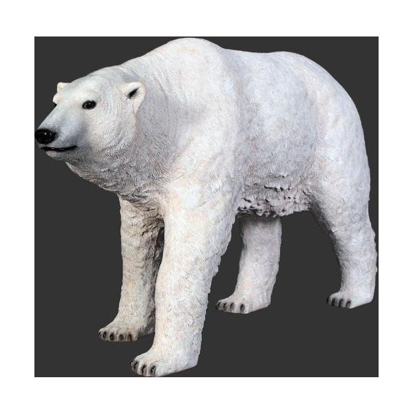 代引不可-アニマルビッグフィギュアシリーズ【白クマ(熊)・スタンディング】(等身大フィギュア)送料別途見積