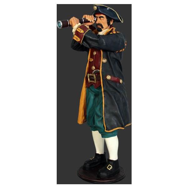 代引不可-キャプテンパイレーツ望遠鏡(海賊船長)・等身大フィギュア
