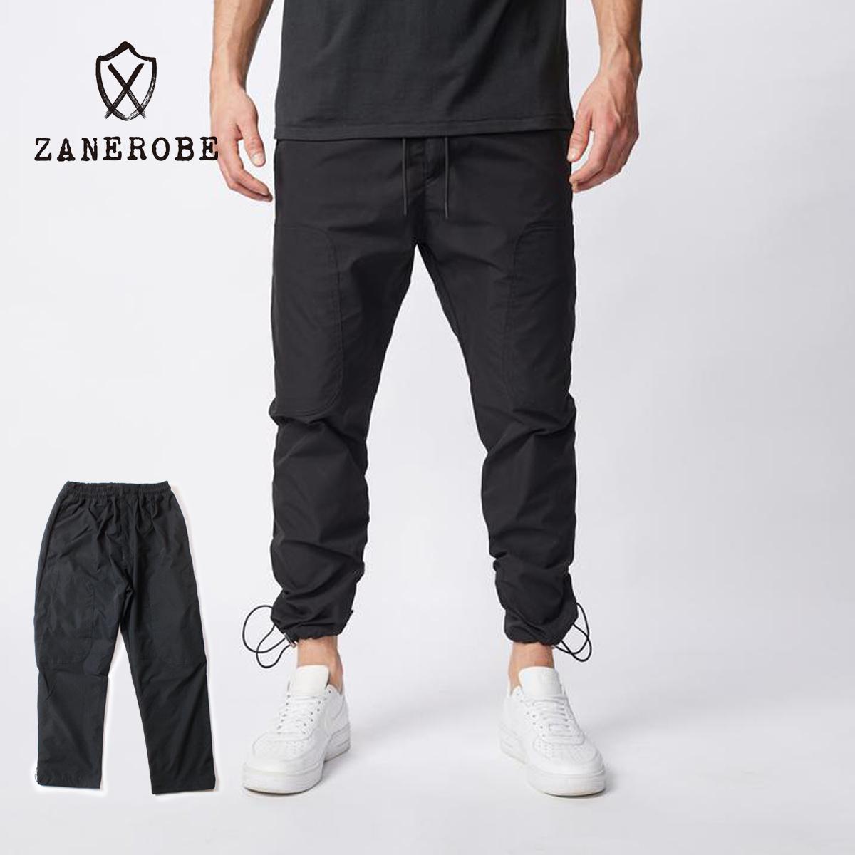 ZANEROBE ゼインローブ JUMPA TECH PANT メンズ ブラック 29-34【ジョガーパンツ リラックスフィット パンツ スラックス イージーパンツ おしゃれ 細身 上品 無地 シンプル ブランド 黒】
