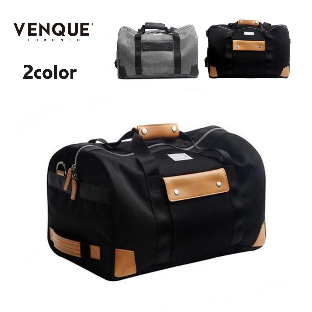 VENQUE ヴェンク Duffel Pack 48.5L 2カラー ダッフルバッグ バッグ ダッフル バックパック トラベルバッグ ジムバッグ リュック 本革 レザー 撥水 3WAY 大容量 カナダ グレー ブラック