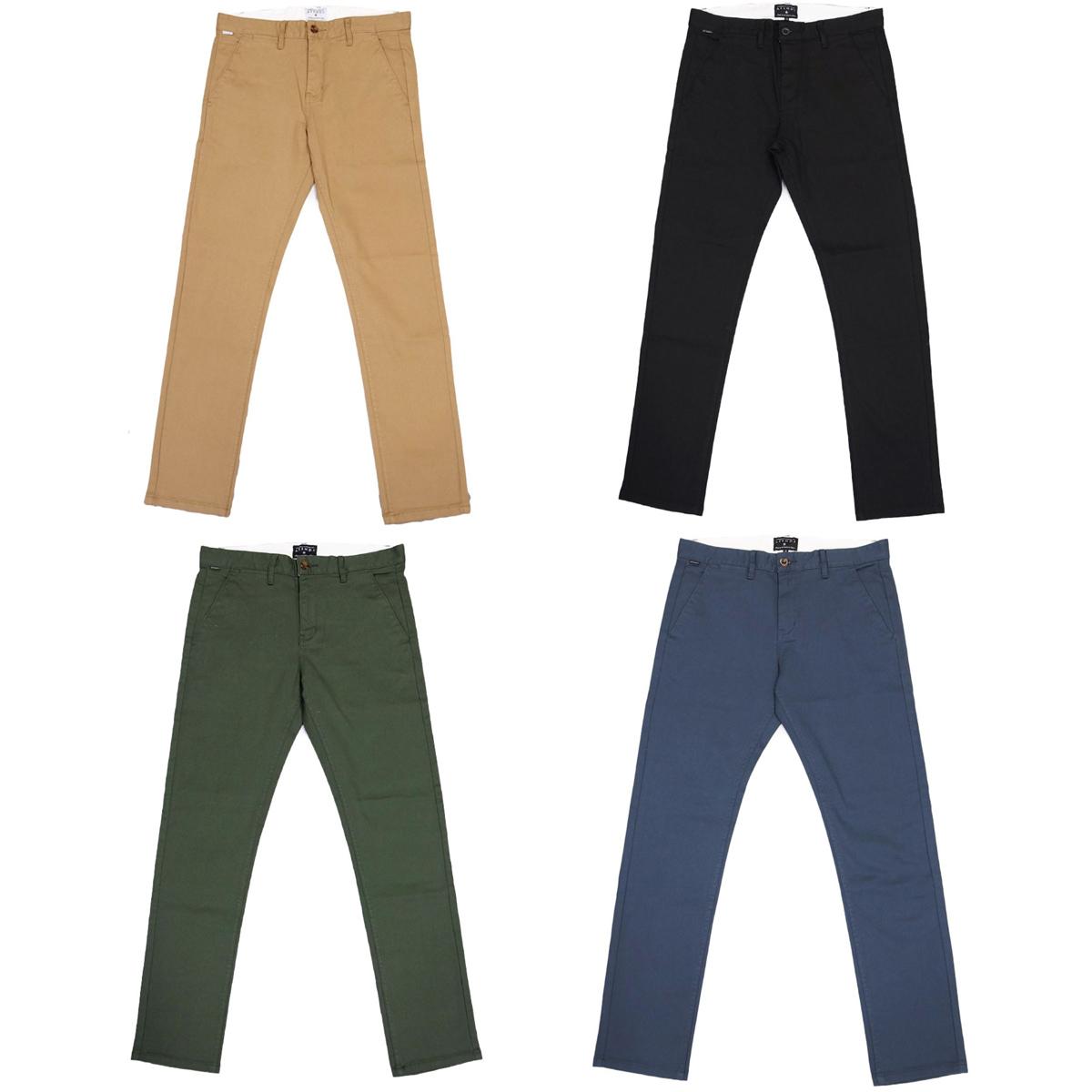 AFENDS アフェンズ RIVAL CHINO PANT 4色 サーフ系 サーフィン メンズ チノパン ストレート ジップフライ メンズ OOO