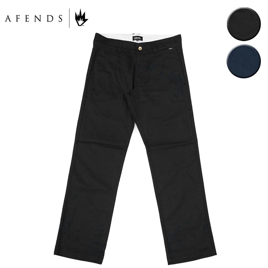 AFENDS アフェンズ SUPPLY CHINO PANT メンズ ブラック/ネイビー 30-36インチ OOO