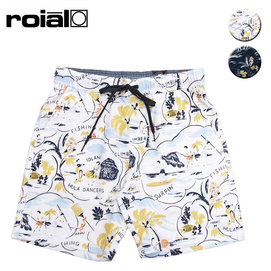 ROIAL ロイアル MENS ARES BOARD SHORT PANT メンズ ネイビー/アイボリー 28-32インチ OOO