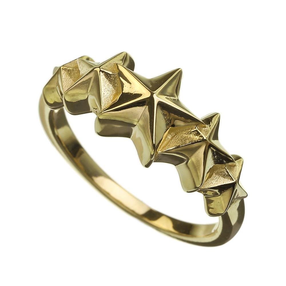 シルバー925 リング K10 ゴールド ファイブ スター ライン リング 星 指輪 ゴールドアクセサリー 5つ星 パーティー レディース アクセサリー 女性 大人 彼女 誕生日 プレゼント 送料無料
