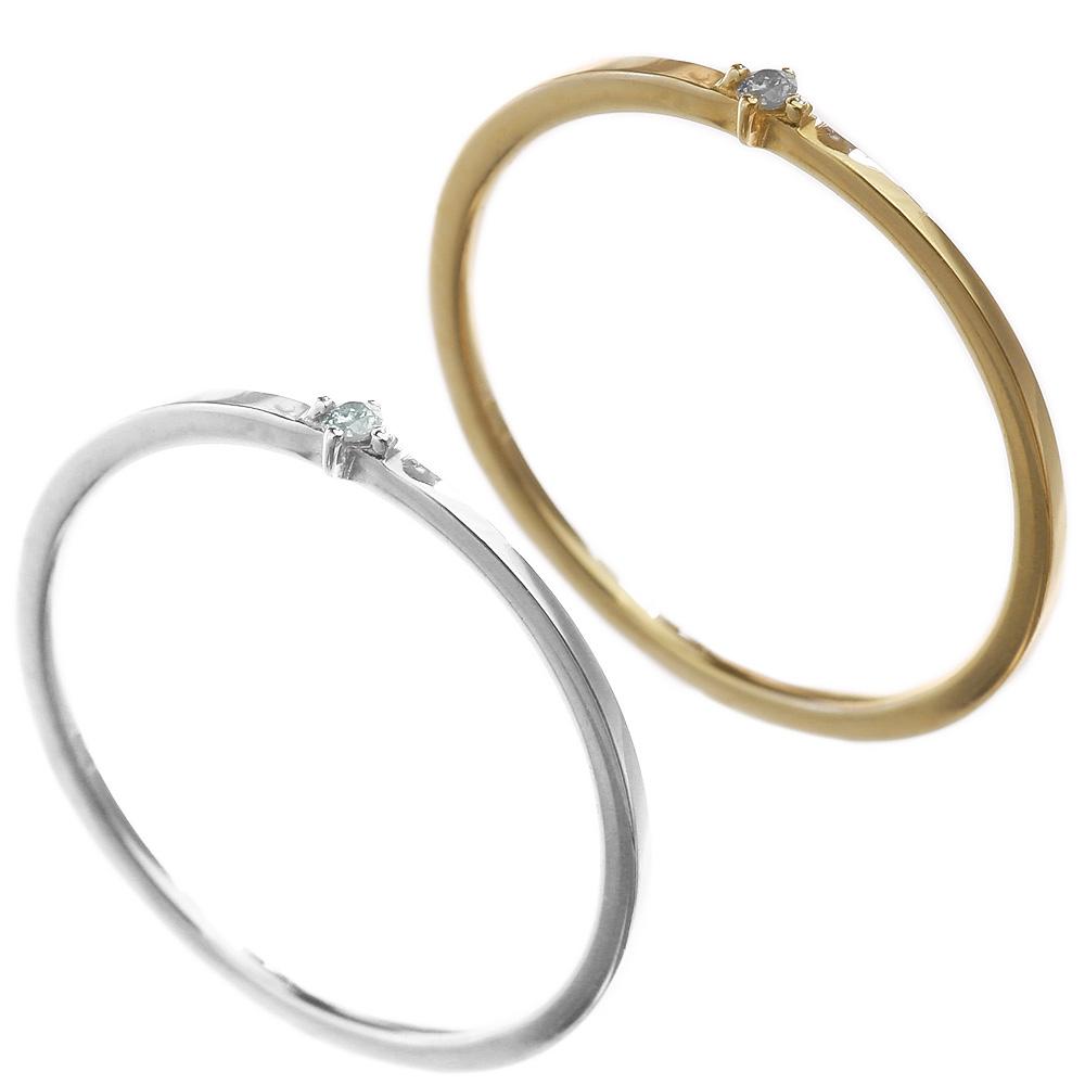 リング 指輪 ダイヤモンド K10 アクセサリー 送料無料 [ K10リング ] [ K10WG ] パーティー レディース アクセサリー 女性 大人 彼女 誕生日 プレゼント メール便