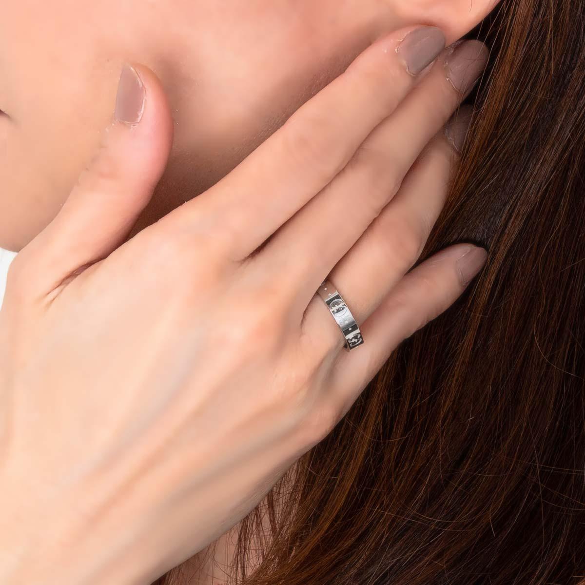 グッチ リング【指輪】 アクセサリー メンズ レディース GGアイコン シルバー ホワイトゴールド 073230 09850 9000 GUCCI