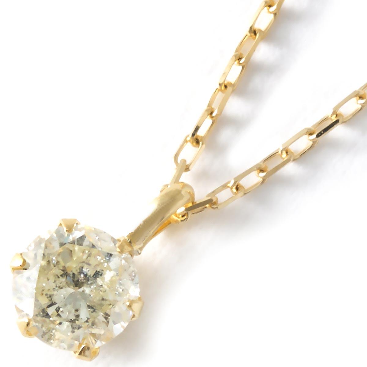 【最大3万円割引クーポン 11/01~】ジュエリー ネックレス アクセサリー レディース ダイヤモンド 一粒 0.3ct K18 クリア&イエローゴールド DS20153 YG JEWELRY