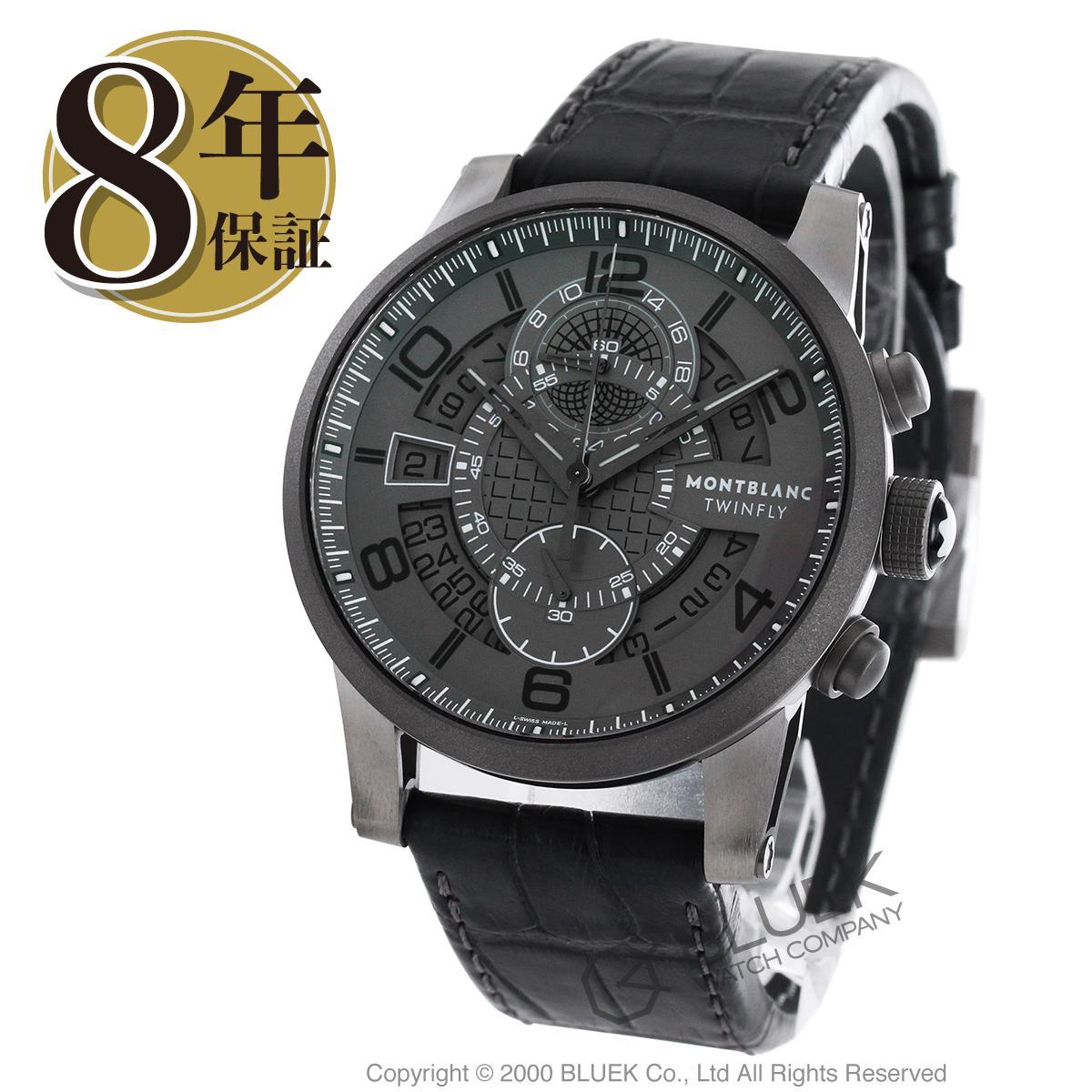 モンブラン タイムウォーカー ツインフライ クロノグラフ アリゲーターレザー 腕時計 メンズ MONTBLANC 107338_8