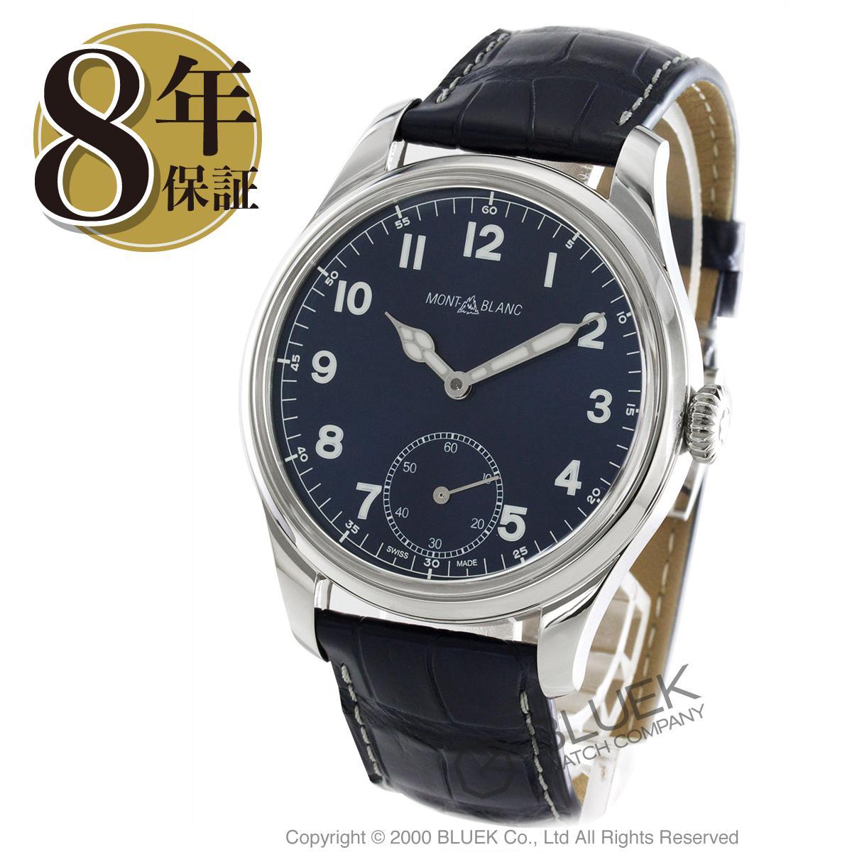 6bfbfed95e53 モンブラン1858アリゲーターレザー腕時計メンズMONTBLANC113702 ...