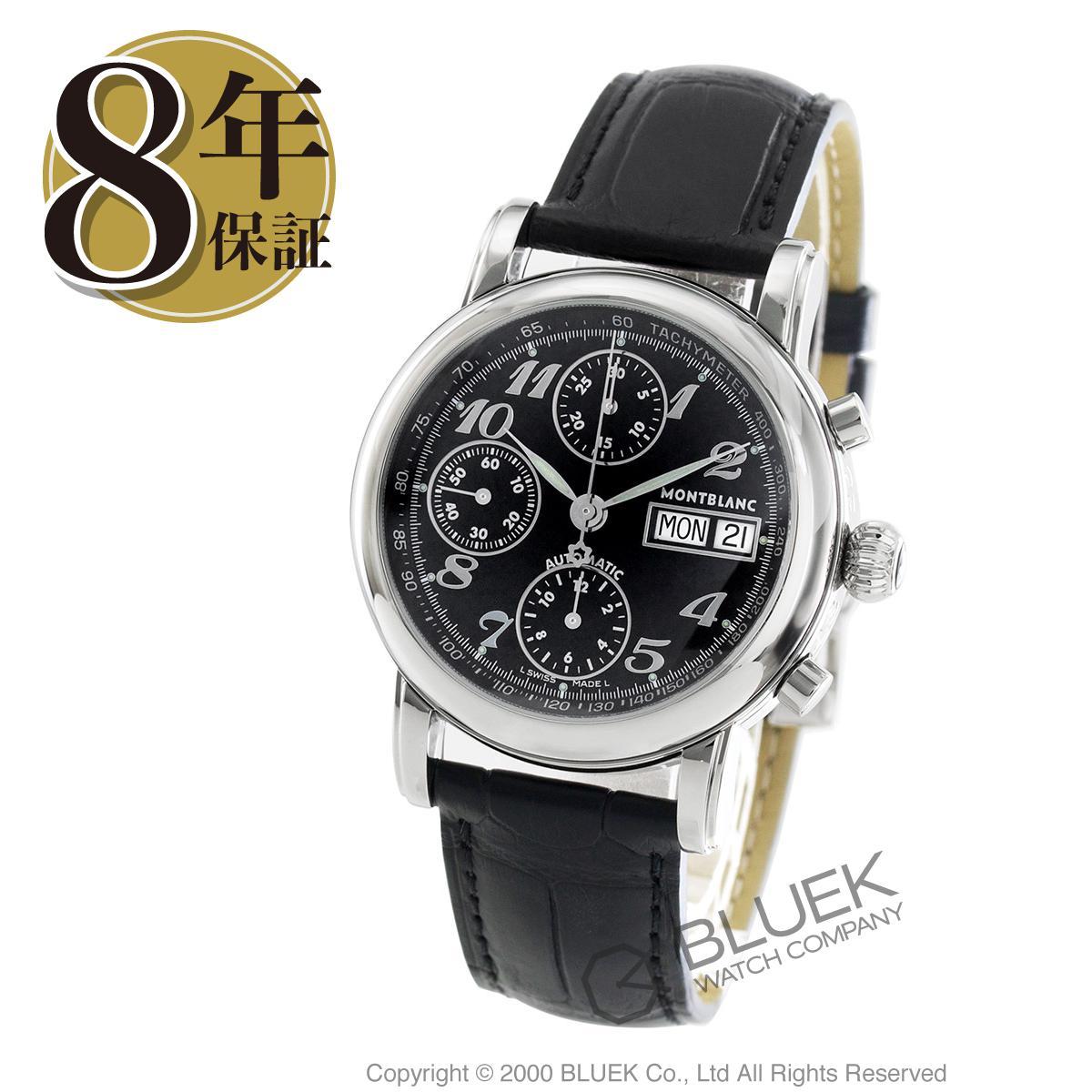 【3,000円OFFクーポン対象】モンブラン スター クロノグラフ アリゲーターレザー 腕時計 メンズ MONTBLANC 8451_8