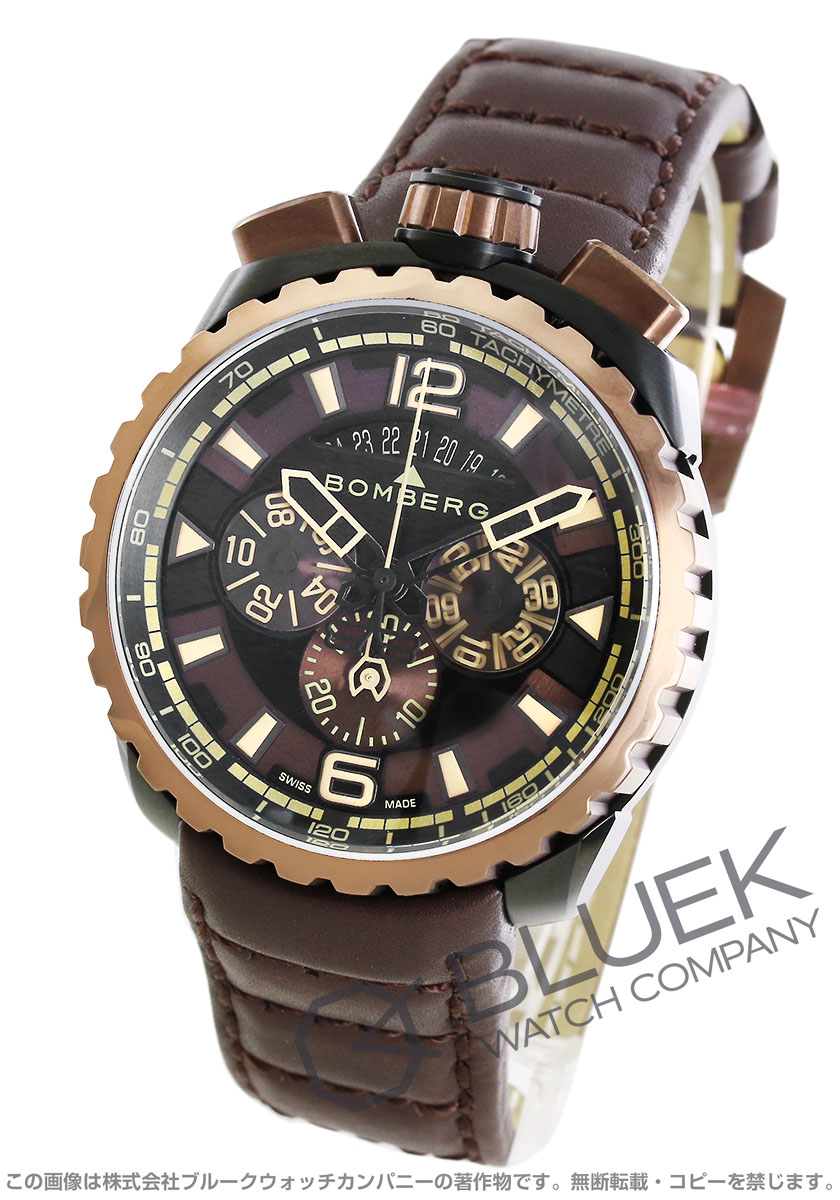 【最大3万円割引クーポン 11/01~】ボンバーグ ボルト68 クロノグラフ 腕時計 メンズ BOMBERG BS45CHPBRBA.050-2.3