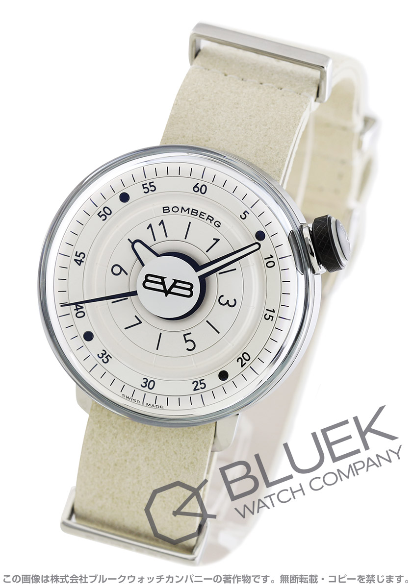 【最大3万円割引クーポン 11/01~】ボンバーグ BB-01 ホワイト&シルバー 腕時計 メンズ BOMBERG CT43H3SS.02-1.9