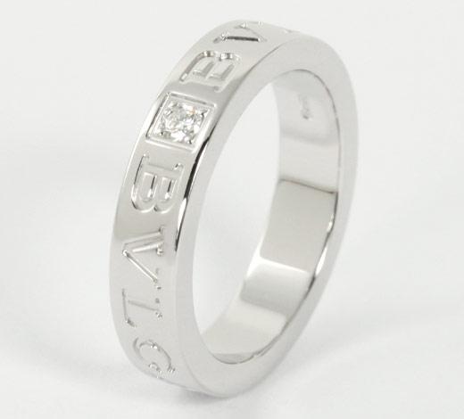 Bulgari BVLGARI diamond double logo ring ( ring ) white gold AN853348