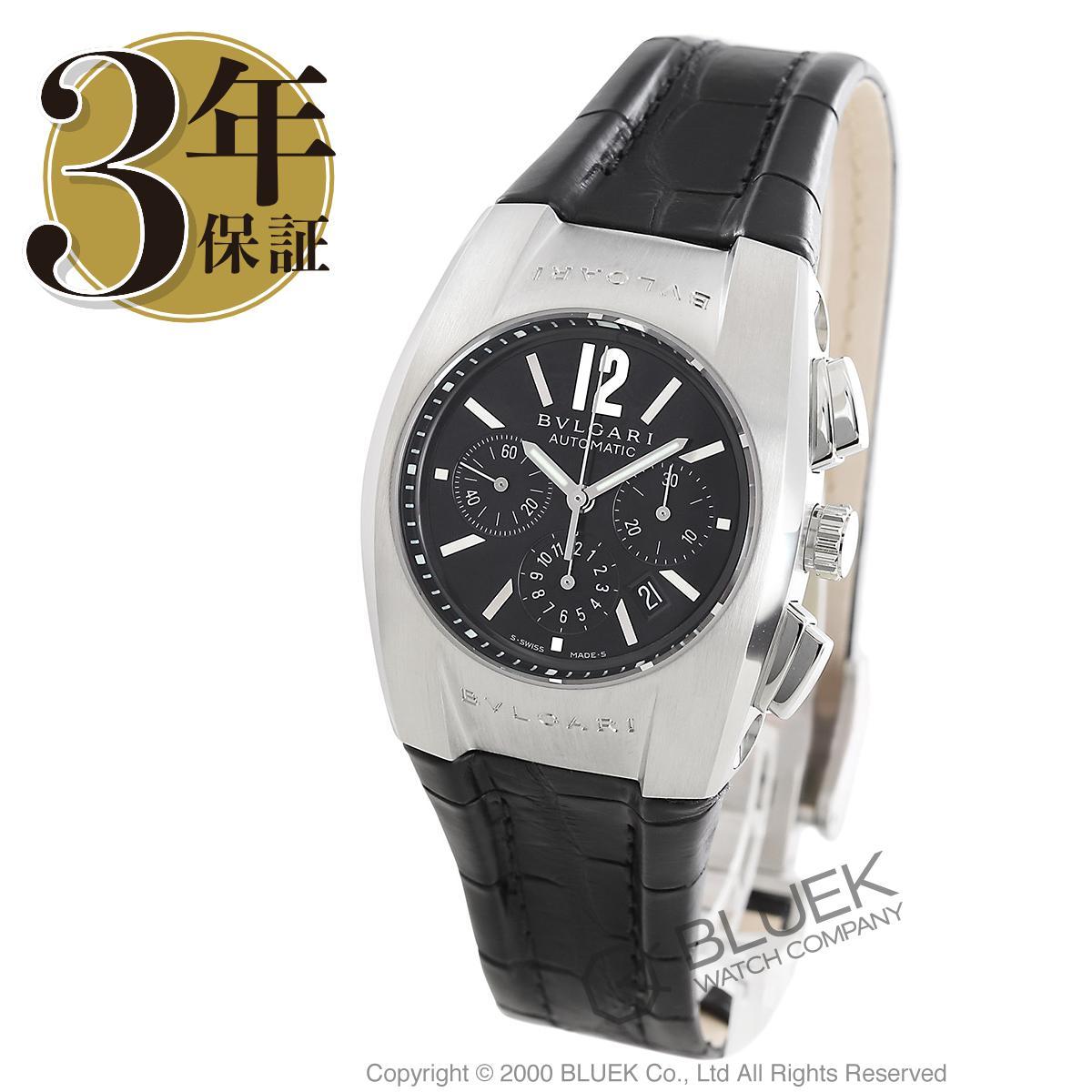 ブルガリ エルゴン クロノグラフ アリゲーターレザー 腕時計 ユニセックス BVLGARI EG35BSLDCH_3