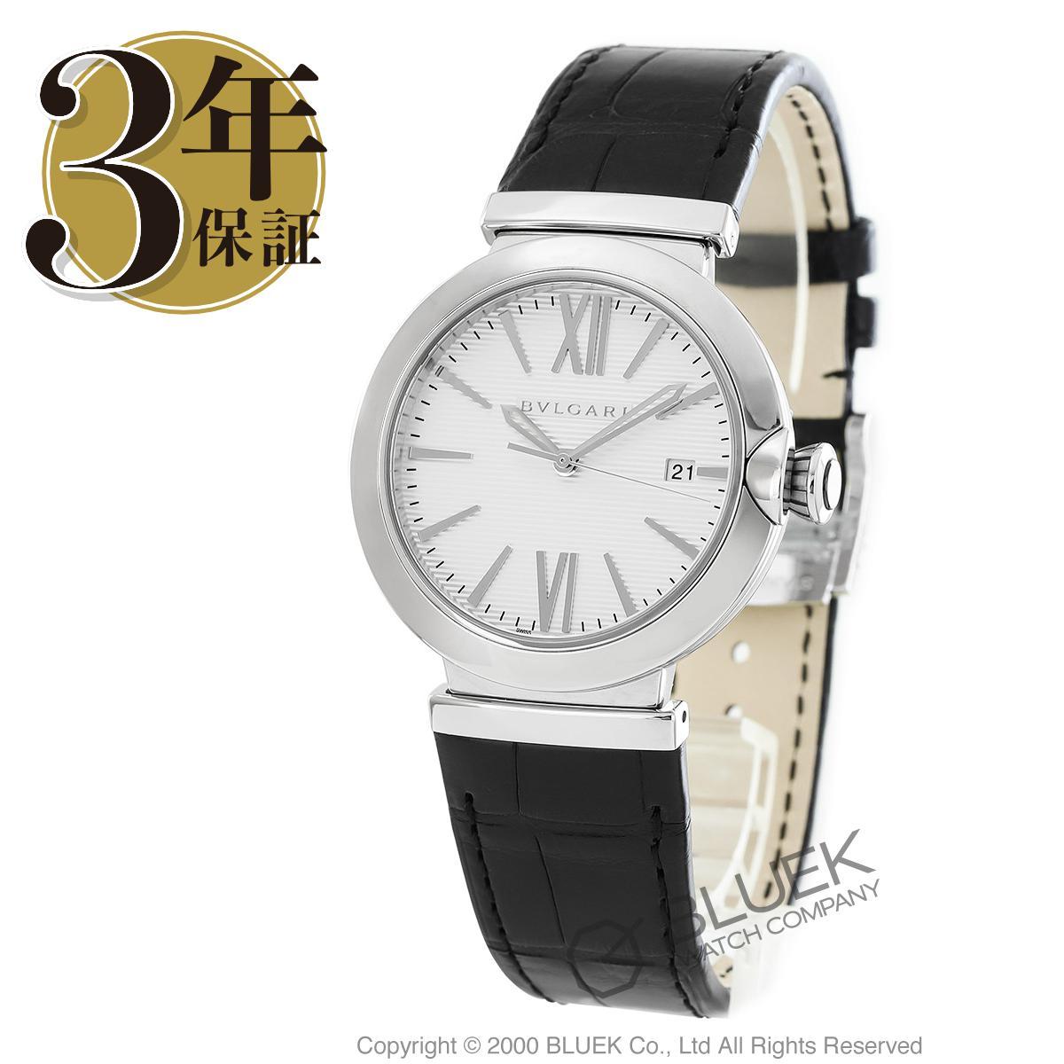 ブルガリ ルチェア アリゲーターレザー 腕時計 メンズ BVLGARI LU40C6SLD_8
