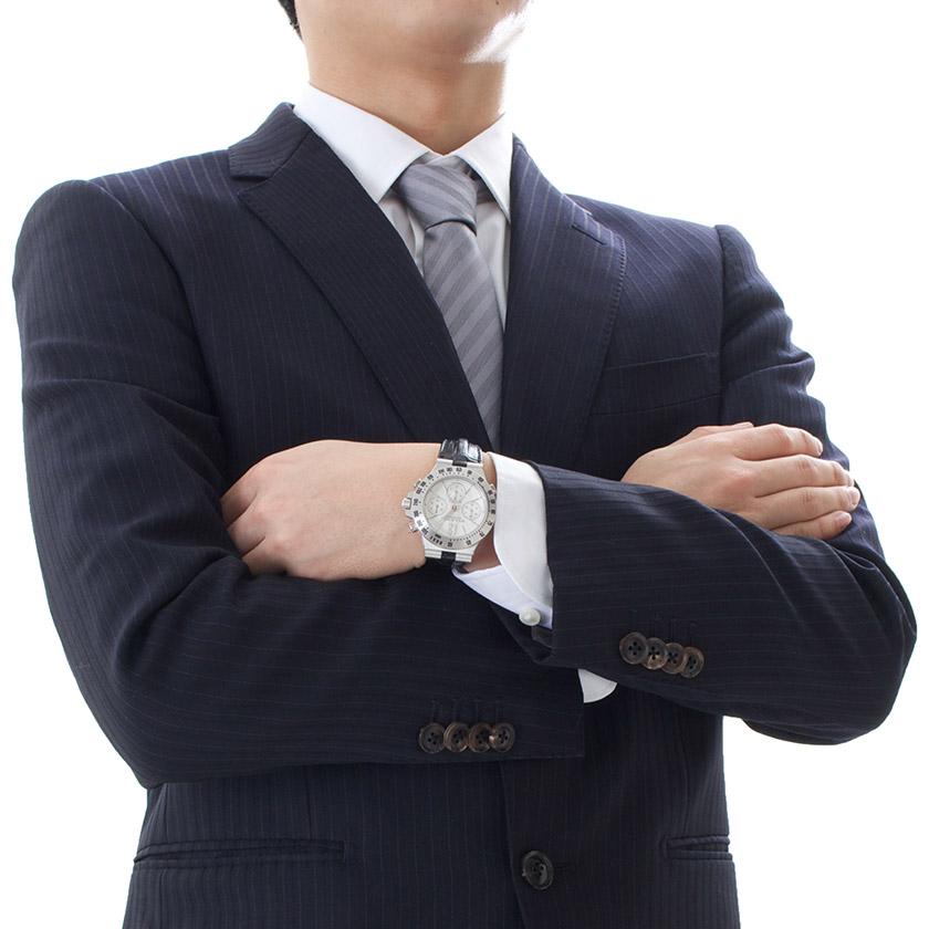 ブルガリ ディアゴノ プロフェッショナル テラ ラトラパンテ クロノグラフ WG金無垢 アリゲーターレザー 腕時計 メンズ BVLGARI CHW40C6GLTARA_8