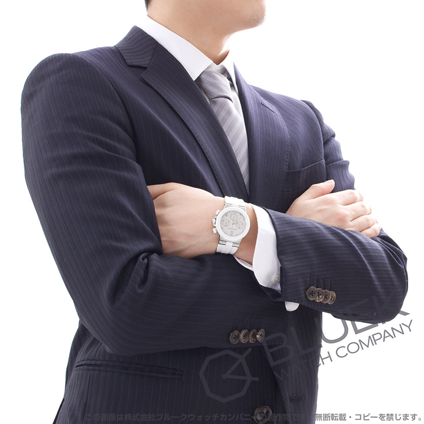 ブルガリ ディアゴノ クロノグラフ ダイヤ 腕時計 ユニセックス BVLGARI DG37WSCVDCH/8_8