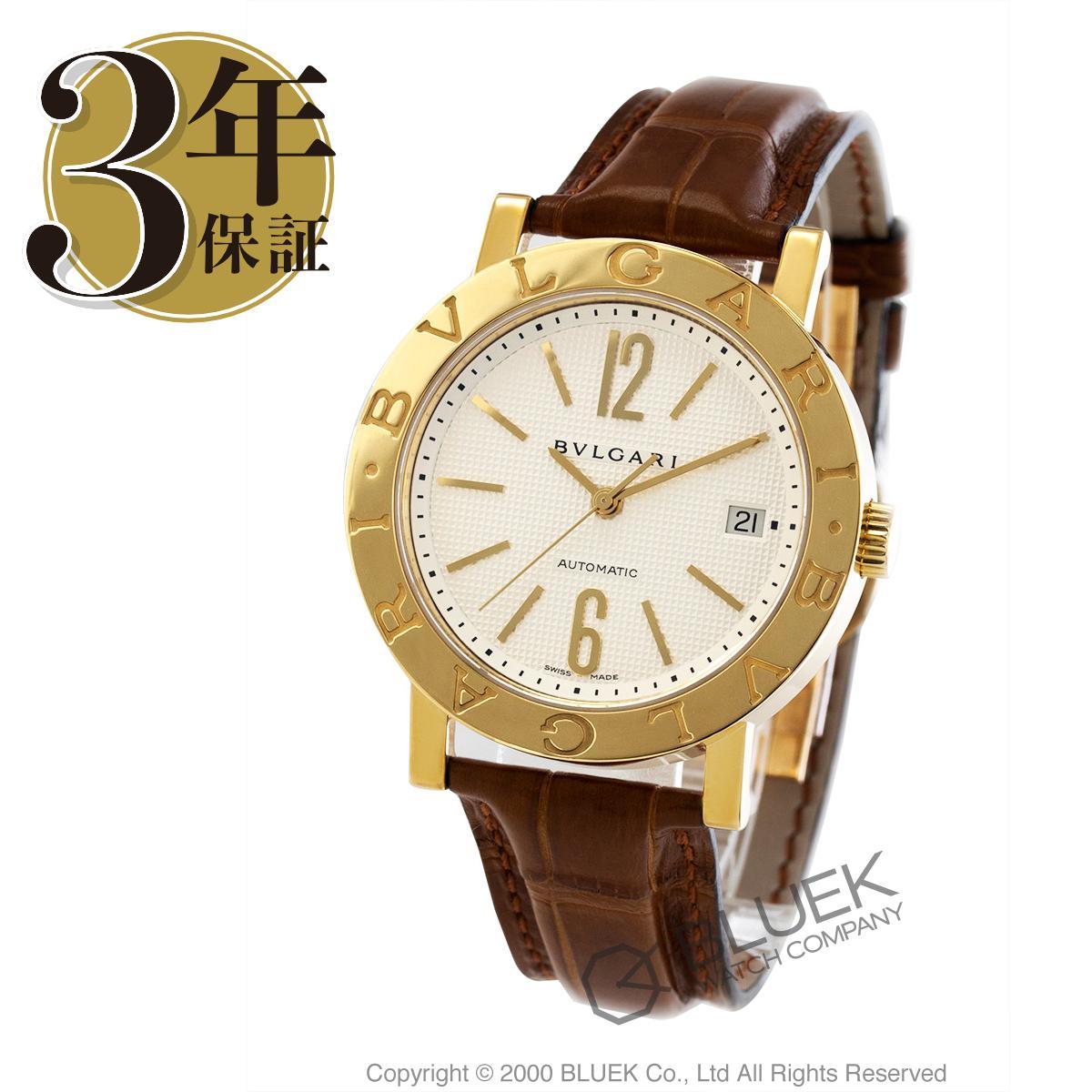 ブルガリ ブルガリブルガリ YG金無垢 アリゲーターレザー 腕時計 メンズ BVLGARI BB38WGLDAUTO_8 バーゲン 成人祝い ギフト プレゼント