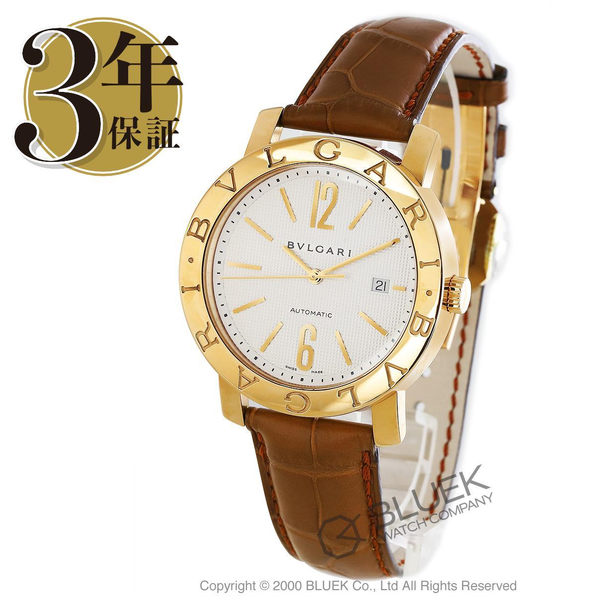 ブルガリ ブルガリブルガリ YG金無垢 アリゲーターレザー 腕時計 メンズ BVLGARI BB42WGLD AUTO_3