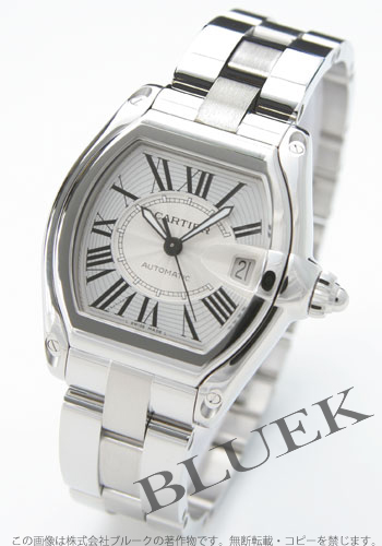 Cartier Roadster silver Roman mens automatic winding replacement belt with W62025V3