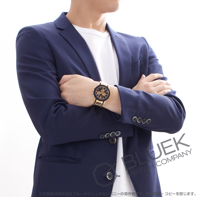 e89d696ecc ヴェルサーチェキャラクタークロノクロノグラフ腕時計メンズVERSACEVEM800318