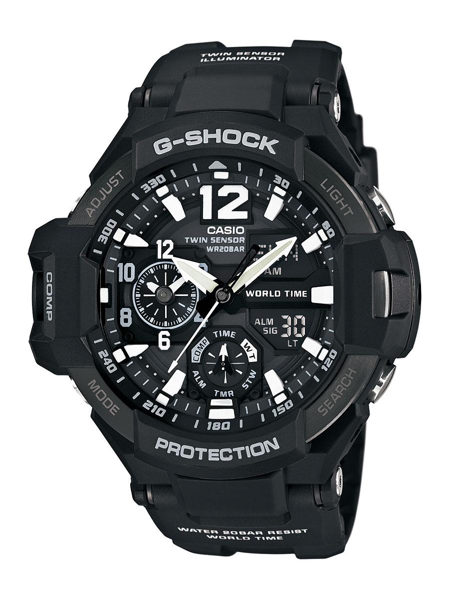 カシオ G-SHOCK スカイコックピット グラビティマスター クロノグラフ 腕時計 メンズ CASIO GA-1100-1AJF