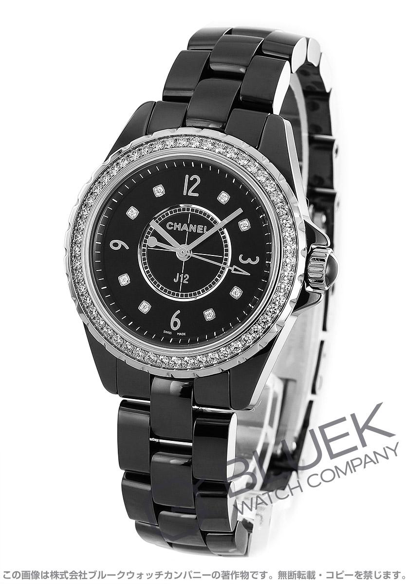 シャネル J12 ダイヤ 腕時計 レディース CHANEL H3108