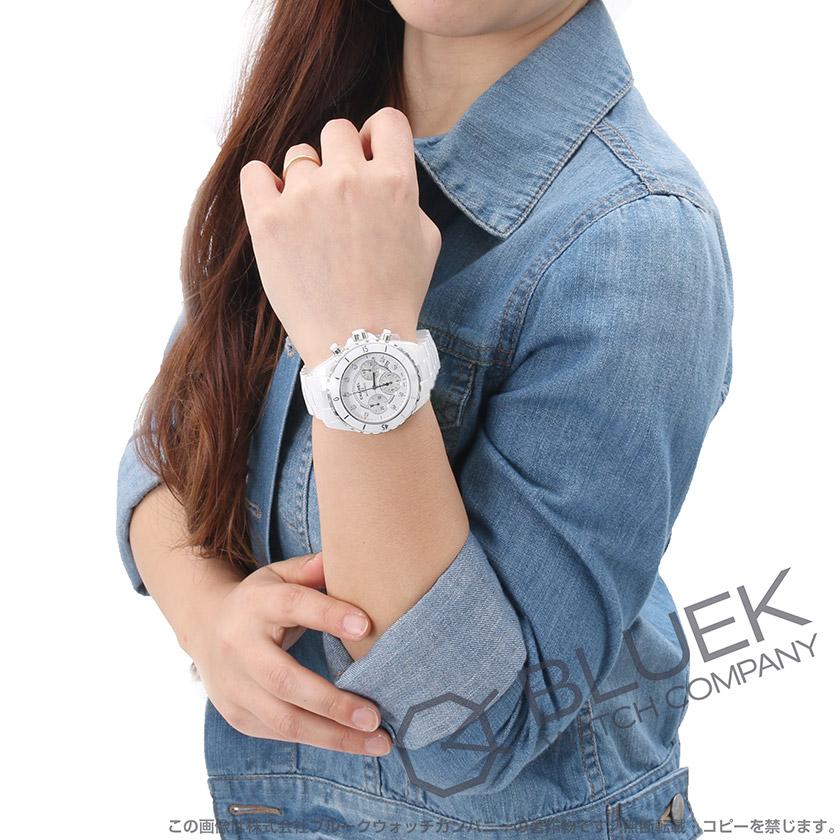 シャネル J12 クロノグラフ ダイヤ 腕時計 ユニセックス CHANEL H2009
