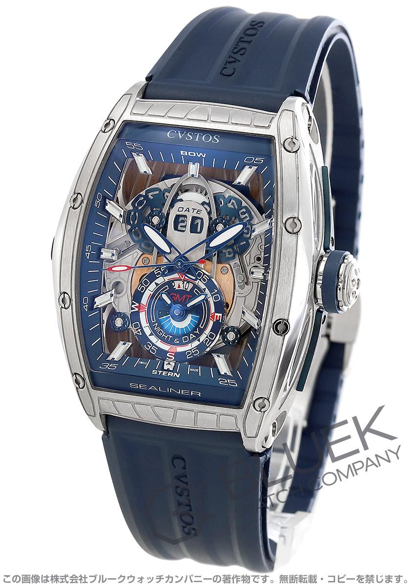 クストス チャレンジ シーライナー GMT 腕時計 メンズ Cvstos CVT-SEA-GMT-ST