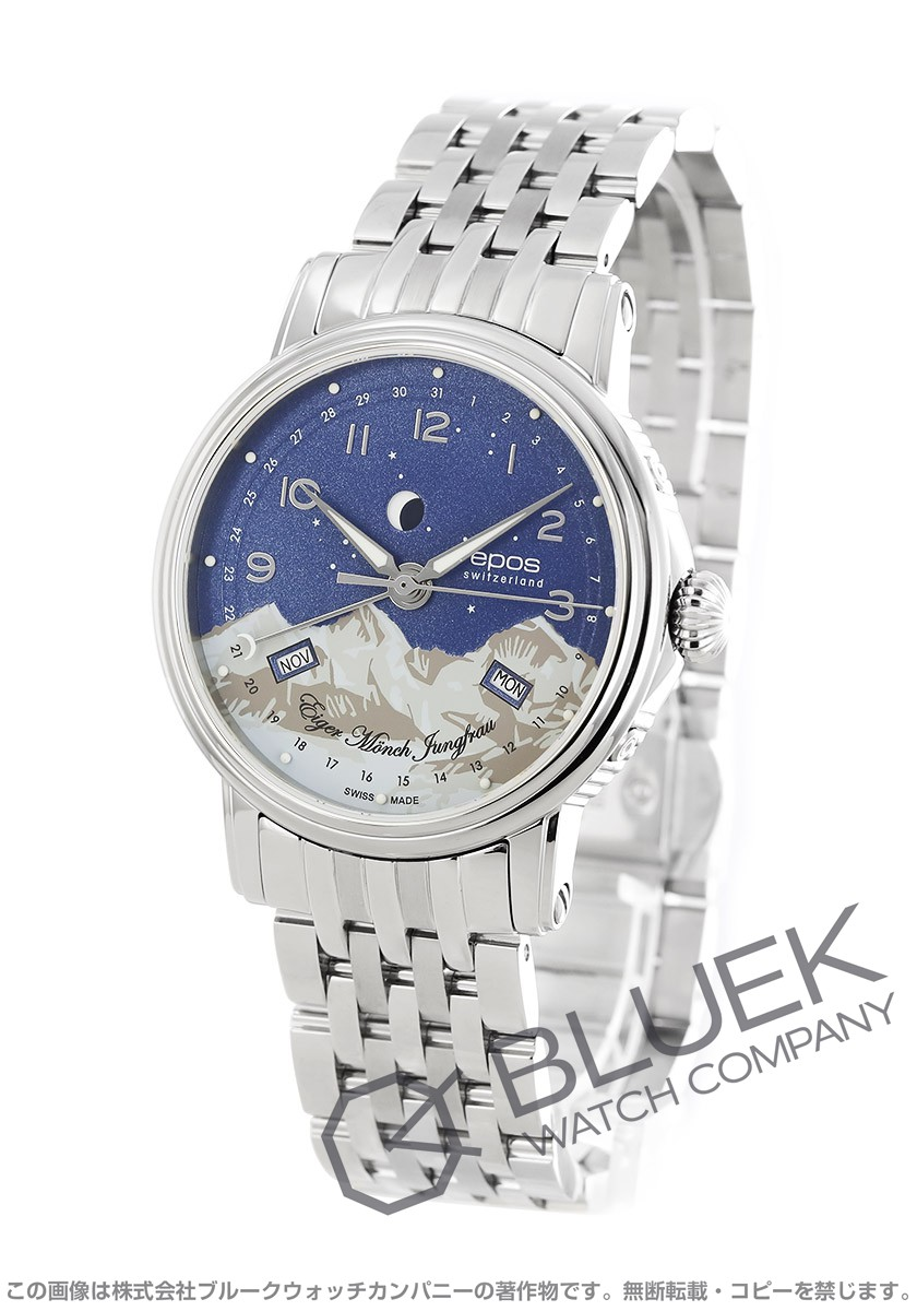 エポス エモーション ムーンフェイズ 腕時計 メンズ EPOS 3391ABLM