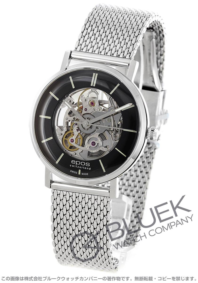 エポス オリジナーレ スケルトン 腕時計 メンズ EPOS 3437SKBKM