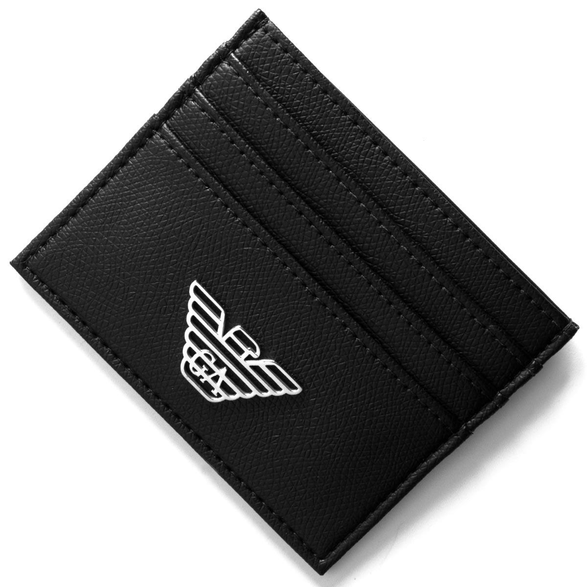 エンポリオアルマーニ クレジットカードケース メンズ イーグルマーク ブラック Y4R173 YLA0E 81072 EMPORIO ARMANI