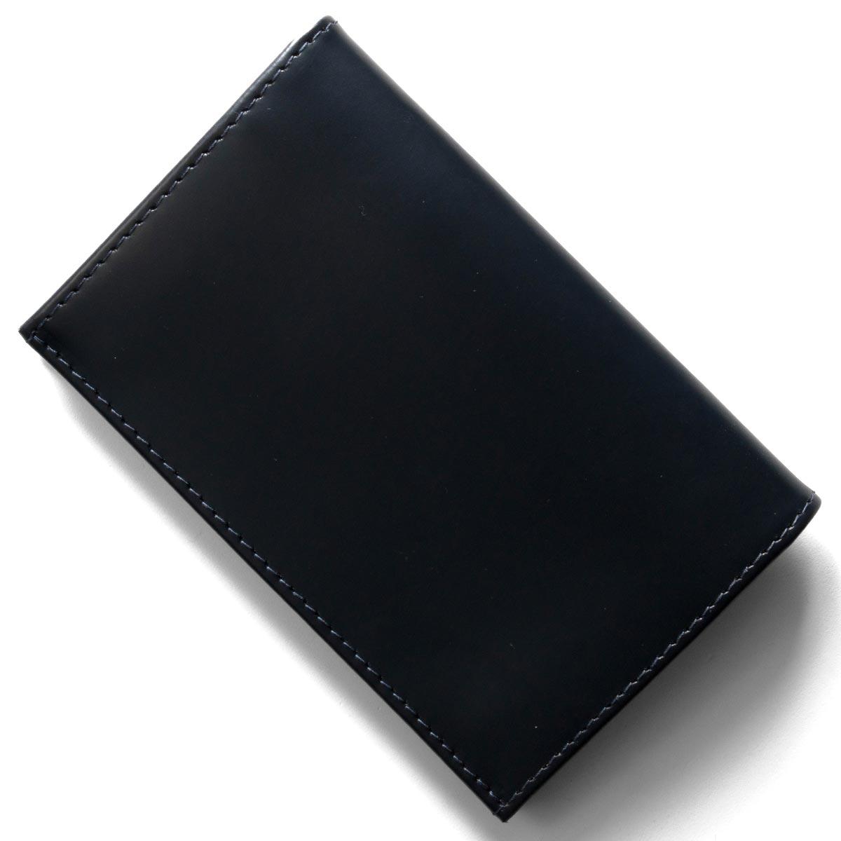 エッティンガー カードケース/名刺入れ メンズ ブライドル ネイビー&パネルハイドイエロー 143JR BH NAVY ETTINGER